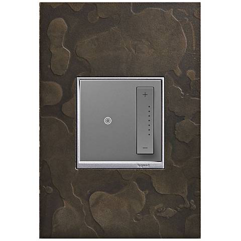 adorne Hubbardton Forge Dark Smoke 1-Gang Wall Plate w/ Dimmer