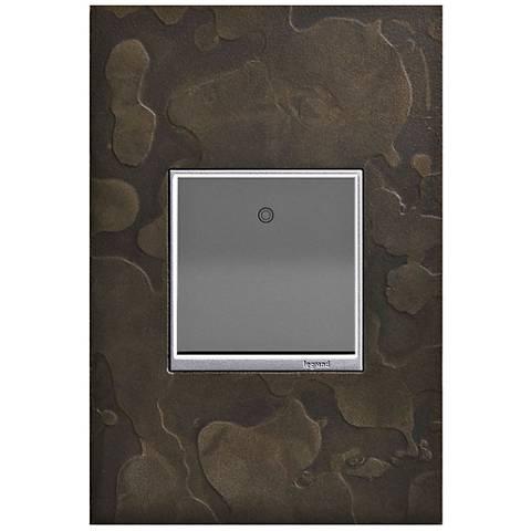 Hubbardton Forge Dark Smoke 1-Gang Wall Plate w/ Paddle Switch