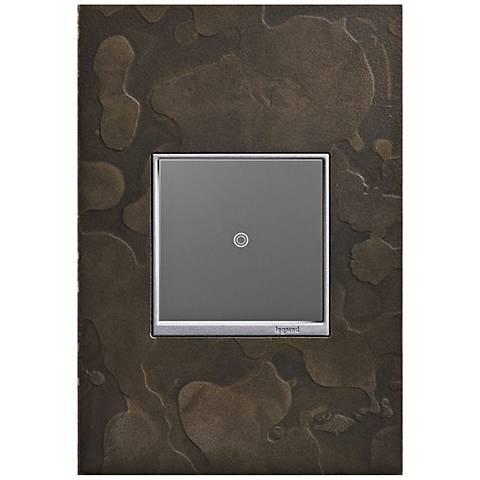 Hubbardton Forge Dark Smoke 1-Gang Wall Plate w/ sofTap Switch
