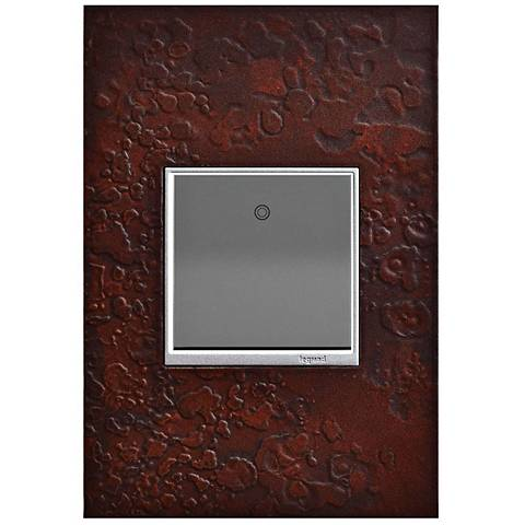 Hubbardton Forge Mahogany 1-Gang Wall Plate w/ Paddle Switch
