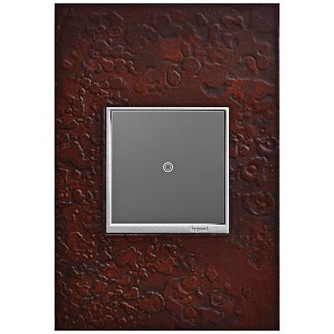 Hubbardton Forge Mahogany 1-Gang Wall Plate w/ sofTap Switch