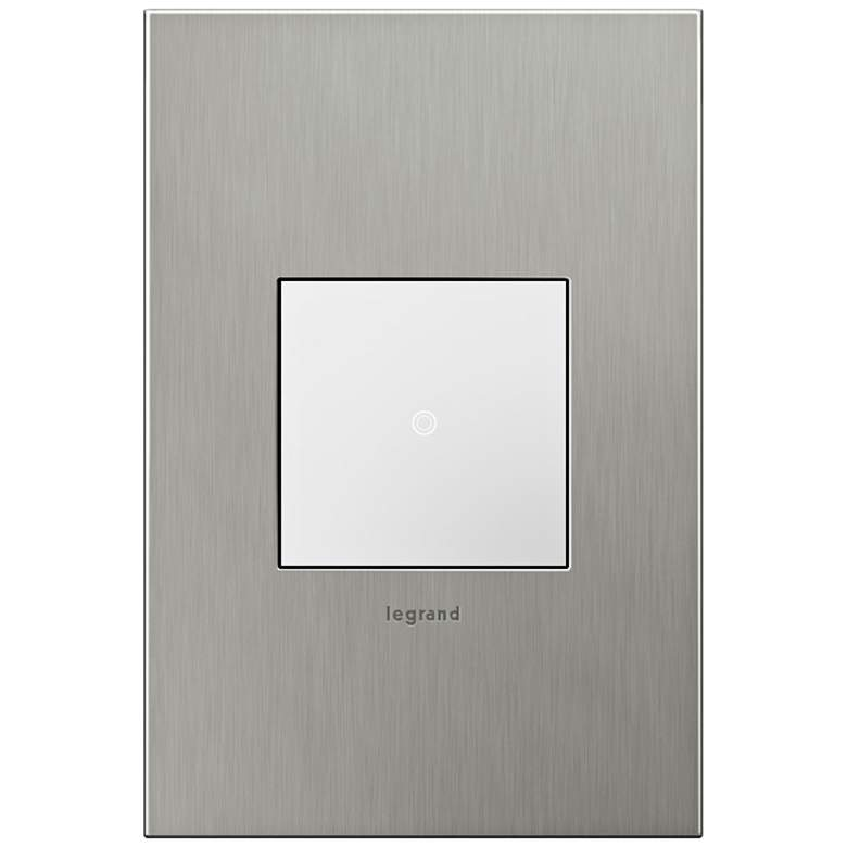 adorne Brushed Stainless 1-Gang Real Metal Wall Plate