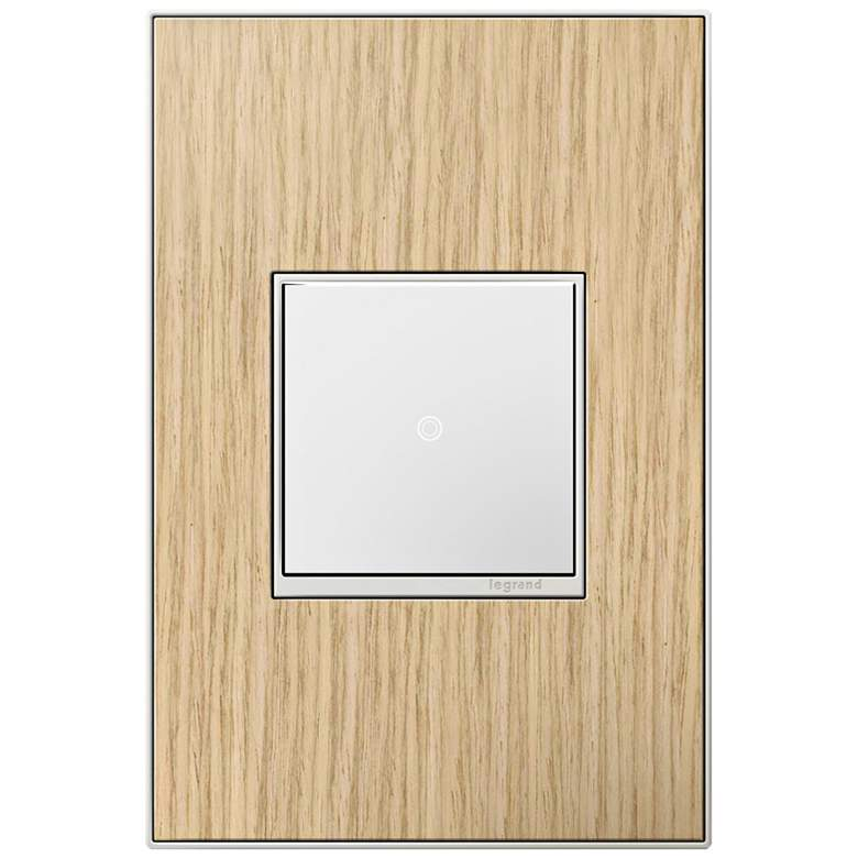adorne French Oak 1-Gang Real Metal Wall Plate