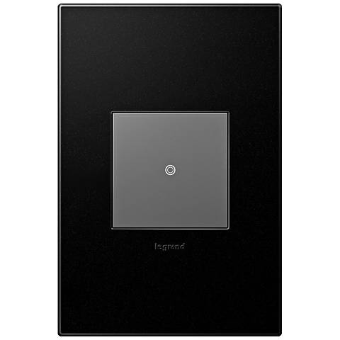 adorne Graphite 1-Gang Wall Plate w/ Switch