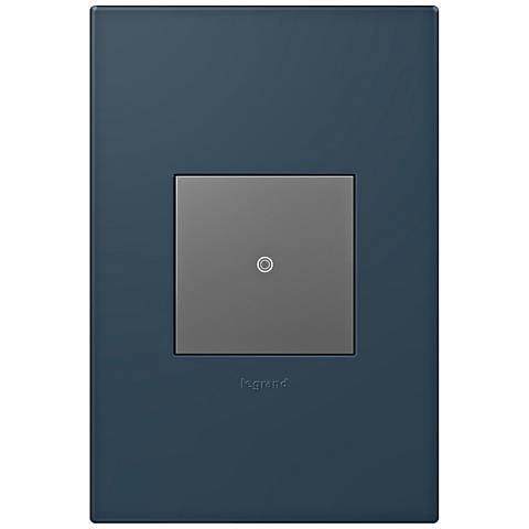 adorne Felt Green 1-Gang Wall Plate w/ Switch
