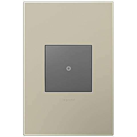 adorne Titanium 1-Gang Wall Plate w/ Switch