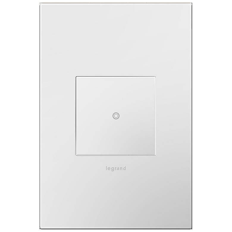 adorne Gloss White-on-White 1-Gang Wall Plate w/ Switch