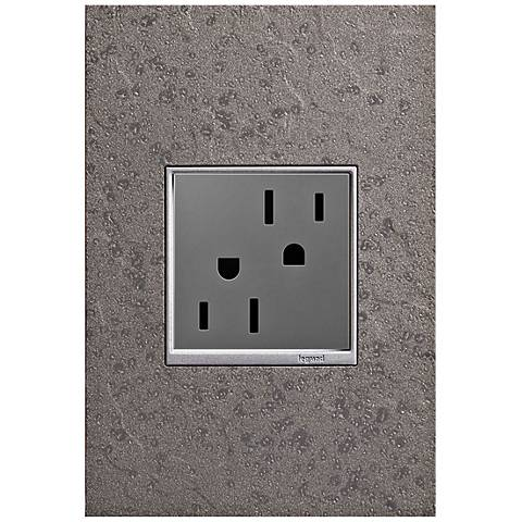 adorne Hubbardton Forge Natural Iron 1-Gang Wall Plate w/ Outlet