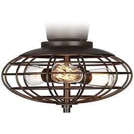Oil Rubbed Bronze Open Cage 3 60 Watt Ceiling Fan Light Kit