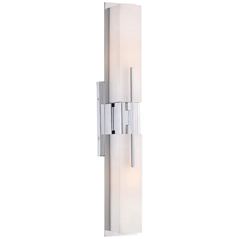"""Possini Euro Design Midtown 23 1/2"""" H LED Chrome Bath Light"""