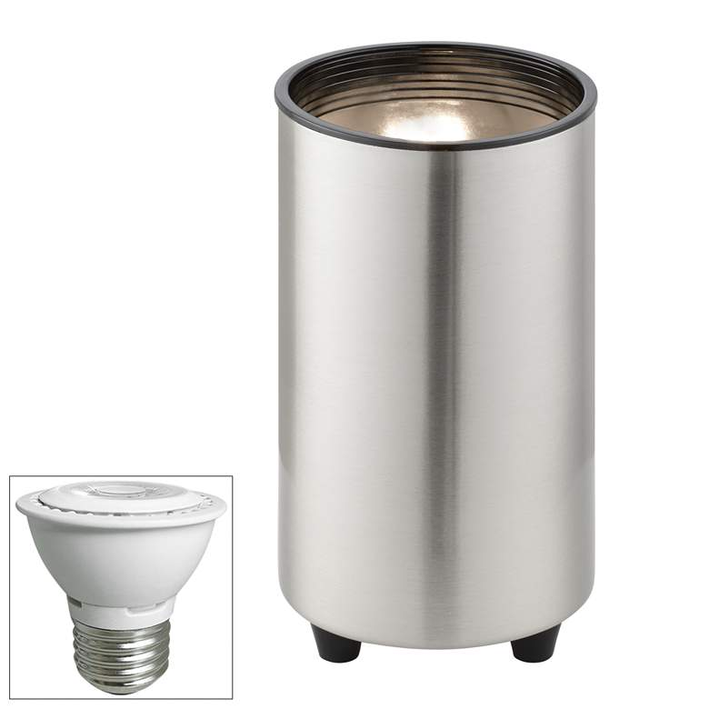 "Brushed Nickel 6 1/2""H PAR20 LED Mini Can Accent Spot Light"