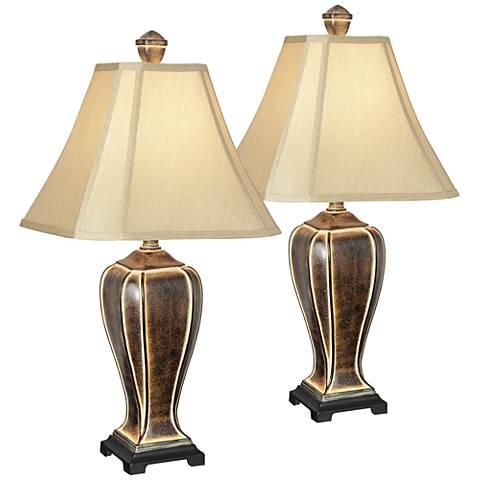 Desert Crackle Table Lamp Set of 2