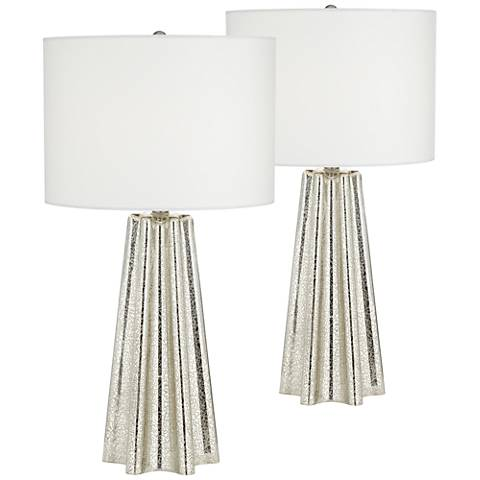Colter Mercury Glass Table Lamp Set of 2