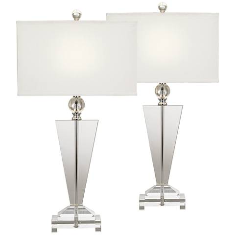 Crystal Trophy Table Lamp Set of 2