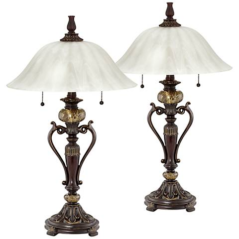 Amor Bronze Table Lamp Set of 2