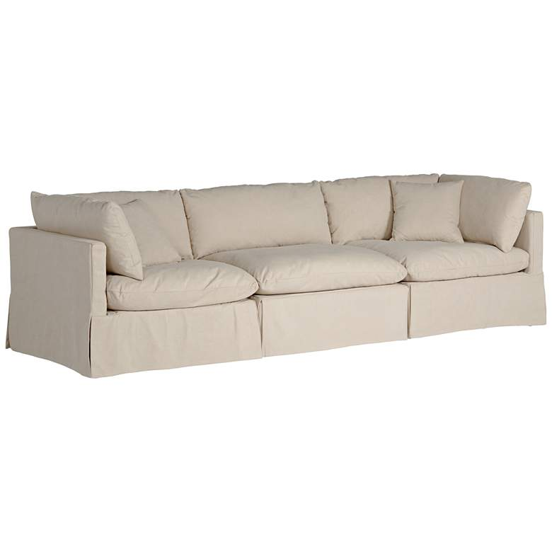 Skye II Peyton Sahara Slipcover 3-Piece Modular Sofa