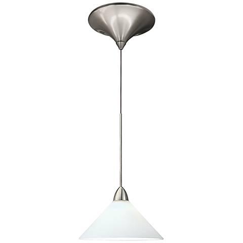 """WAC Jill 5 1/4""""W White Glass Quick Connect LED Mini Pendant"""