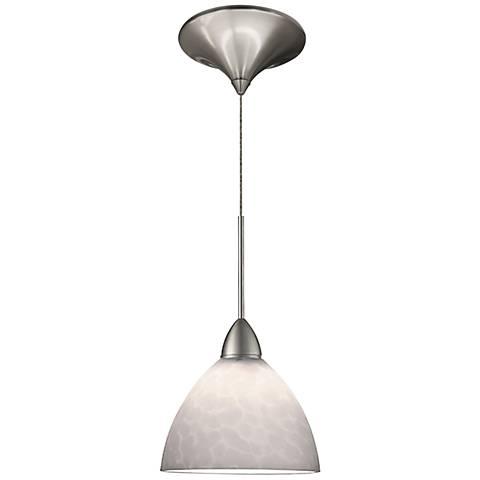 "Faberge 5 1/2""W White Glass Quick Connect LED Mini Pendant"