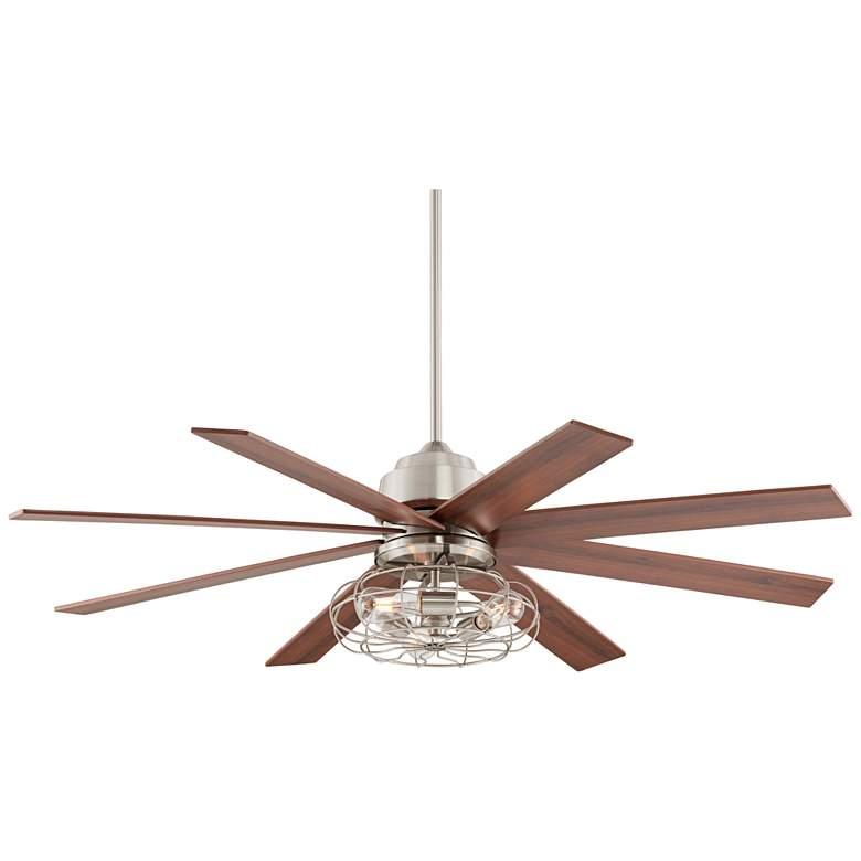 "60"" The Strand Brush Nickel LED Ceiling Fan"