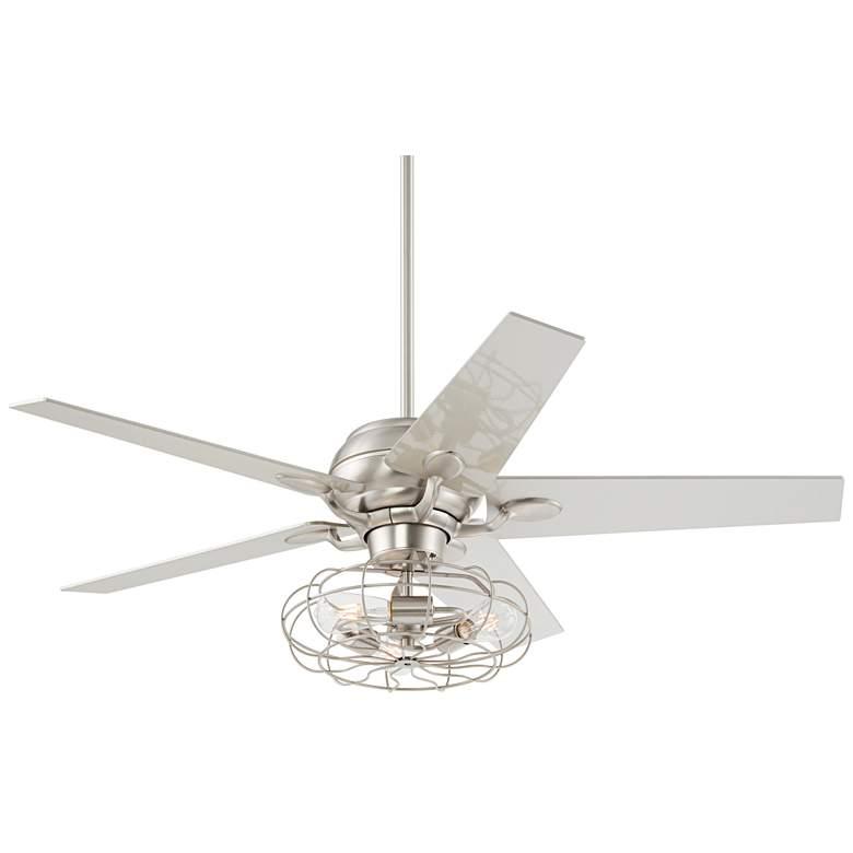 "52"" Casa Optima™ Brushed Steel LED Ceiling Fan"