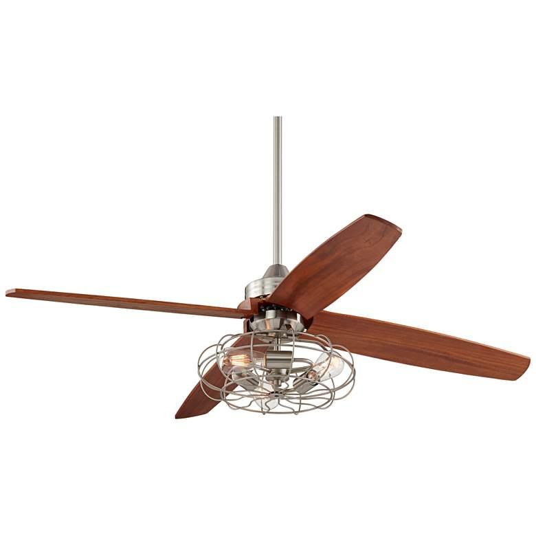 "52""Casa Vieja Insite Brushed Nickle Fan W/LED Light Kit"