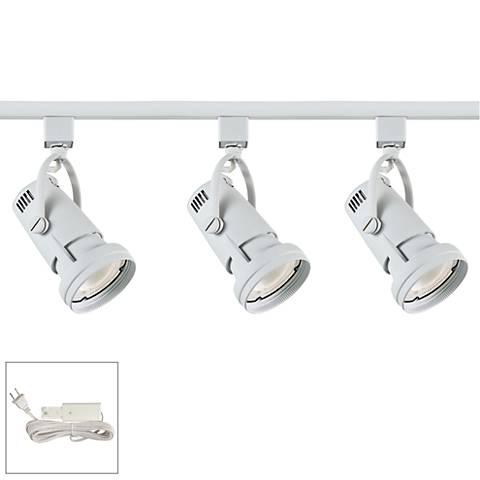 Riley 17W 3-Light White LED Plug-In Linear Track Kit