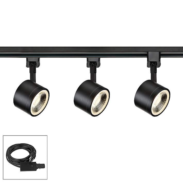3 Light Black Round Head Led Plug
