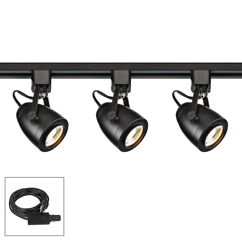 Nuvo Lighting 3-Light Black Pinch Back LED Plug-In Track Kit