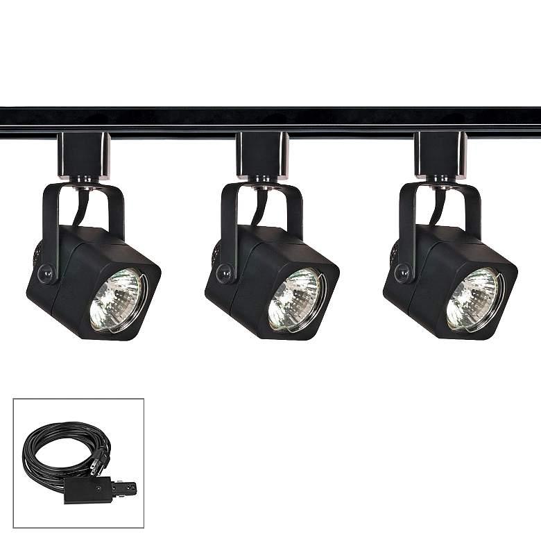Nuvo Lighting 3-Light Black Square Shade Plug-In Track
