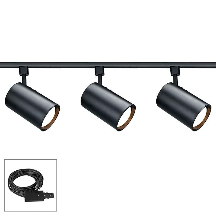 Nuvo Lighting 3 Light Black Cylinder
