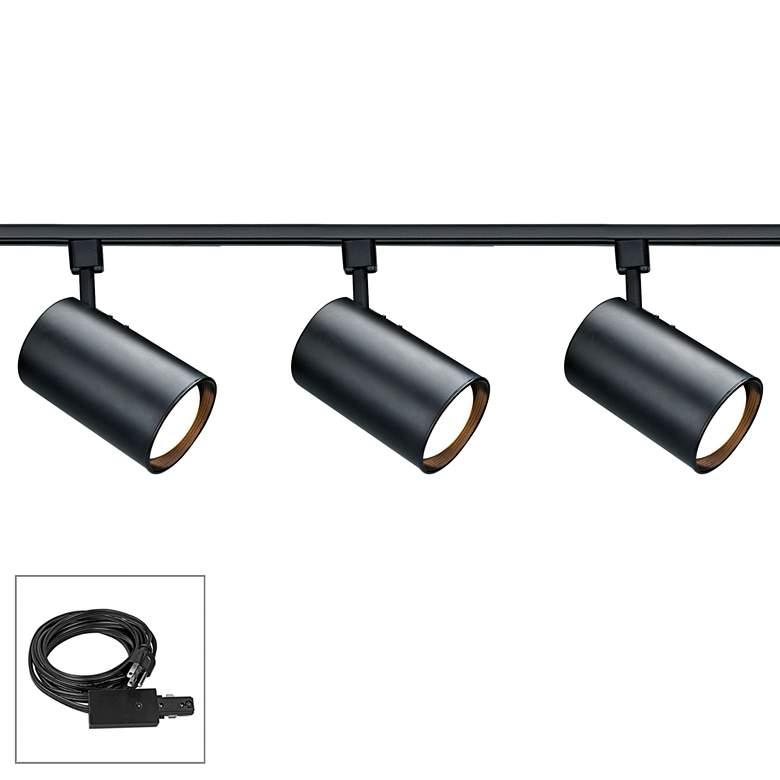 Nuvo Lighting 3-Light Black Cylinder Shade Plug-In Track Kit