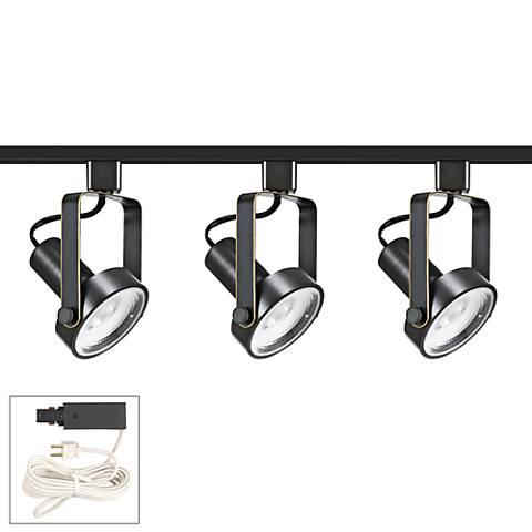 Riley 20W 3-Light Dark Bronze LED Plug-In Linear Track Kit