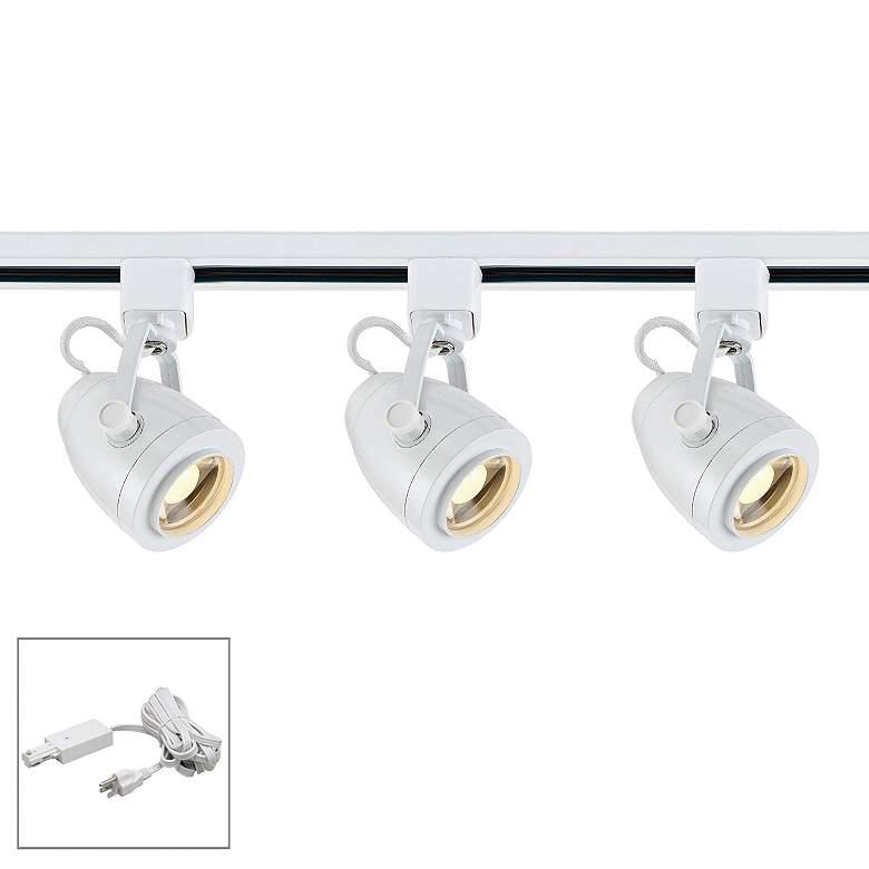 Nuvo Lighting 3-Light White Pinch Back LED Plug-In Track Kit
