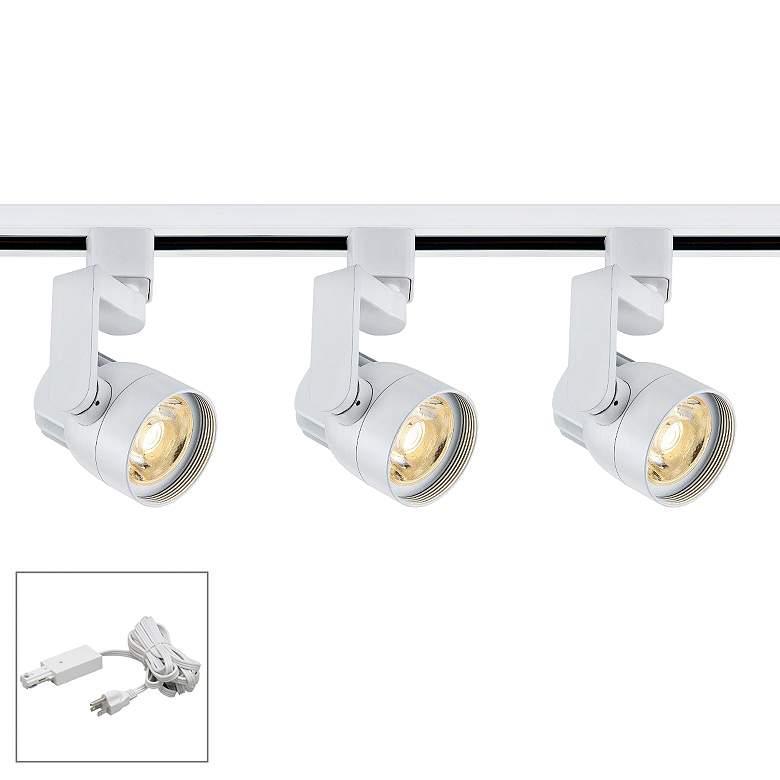 Nuvo Lighting 3-Light White Angle Arm LED Plug-In Track Kit