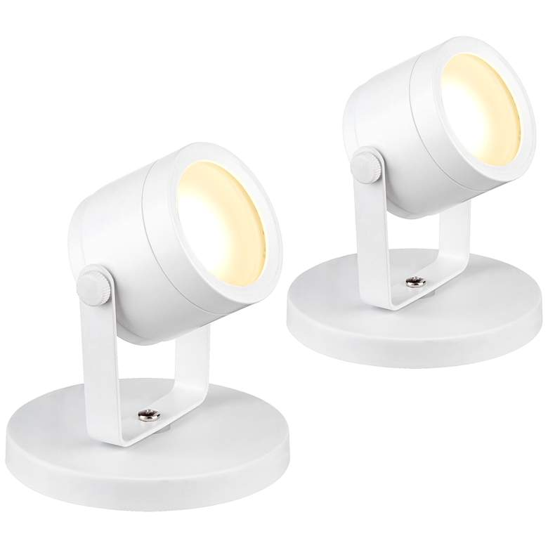 "Ladera 5"" High LED Accent-Uplight in White Set of 2"