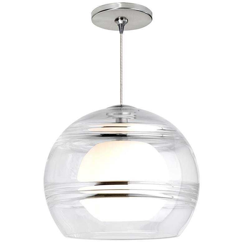 "Sedona 6""W Clear and Satin Nickel LED Freejack Mini Pendant"