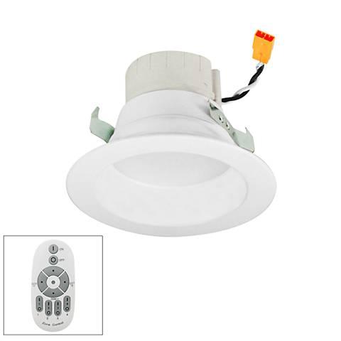 "Nora Prism 4"" White LED Remote Retrofit Reflector Downlight"