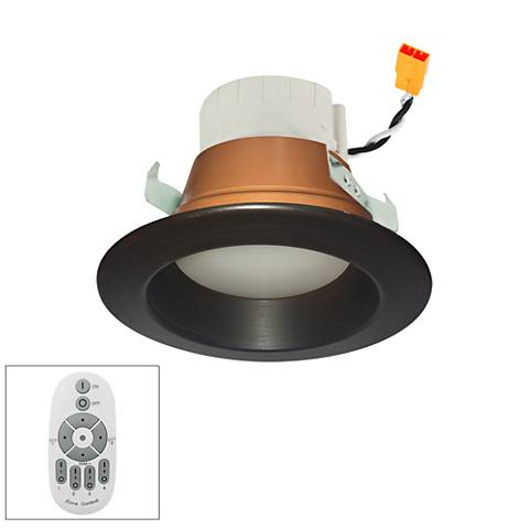 "Prism 4"" Bronze LED Zone Remote Retrofit Reflector Downlight"