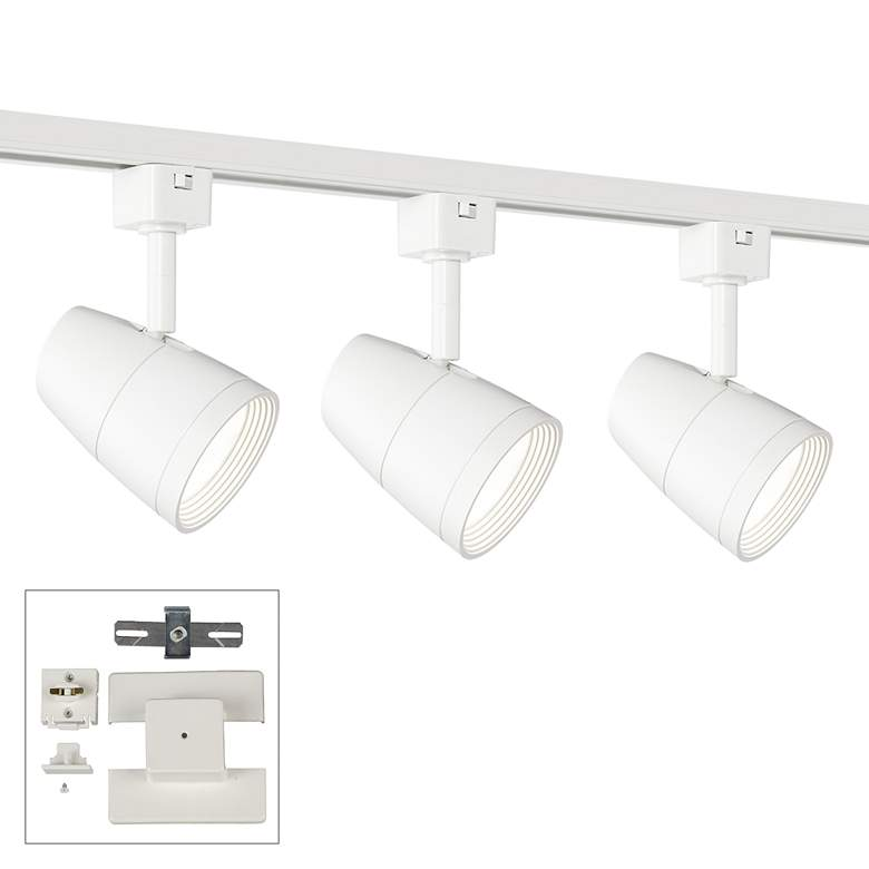3-Light White 10 Watt LED Floating Canopy Track Kit