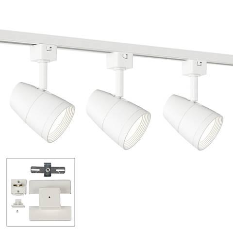 3-Light White 10 Watt LED Floating Canopy Track Kit