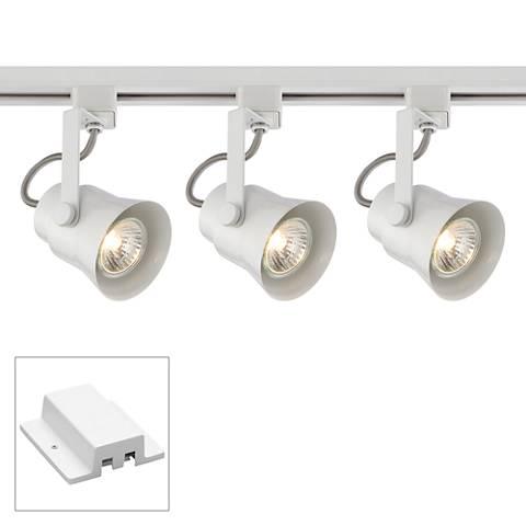 3-Light White Floating Canopy Track Kit