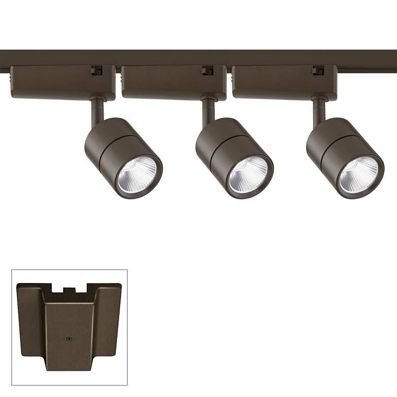 Linder 3-Light Bronze LED Track Kit with Floating Canopy