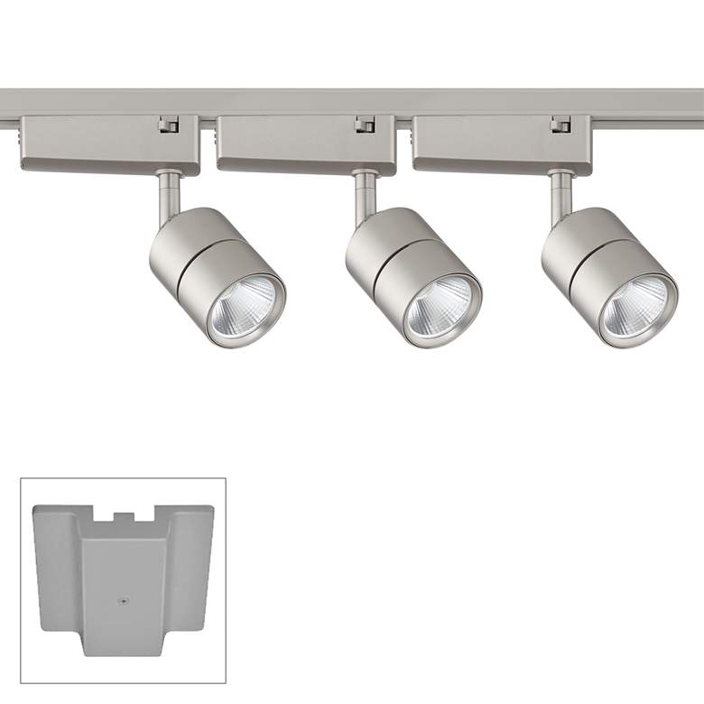 Linder 3-Light Silver LED Track Kit with Floating Canopy