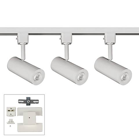 3-Light White LED Track Kit with Floating Canopy