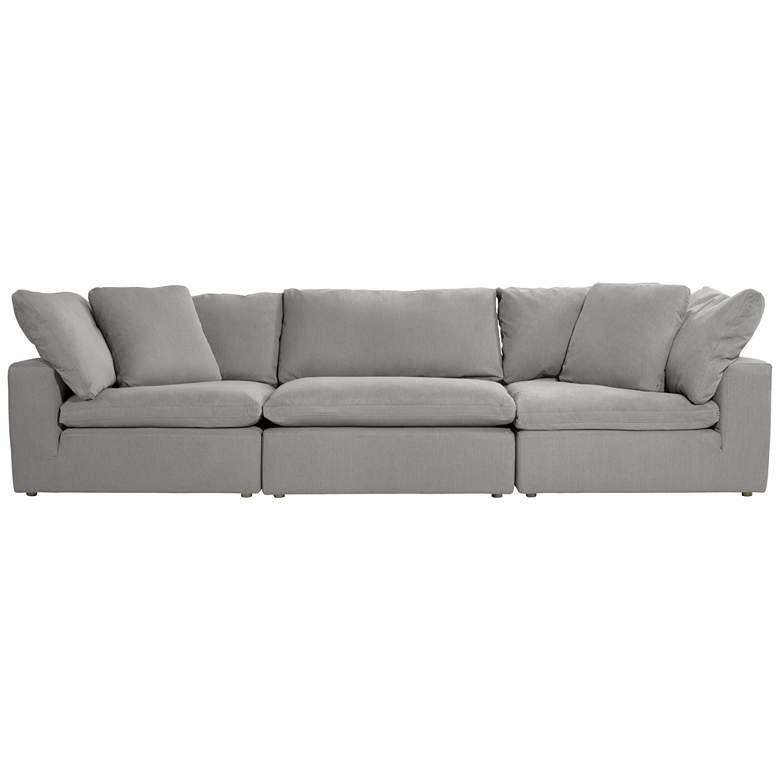 "Skye 125"" Wide Classic Slate Gray 3-Piece Modular Sofa"
