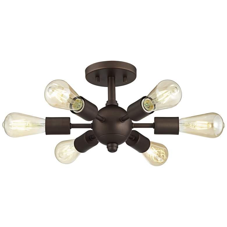 Bestla Bronze 6-Light Ceiling Light with 7W Amber LED Bulbs