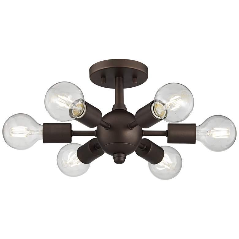 Bestla Bronze 6-Light Ceiling Light with 4W Globe LED Bulbs