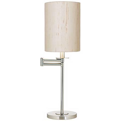 Brushed Nickel Swing Arm Desk Lamp