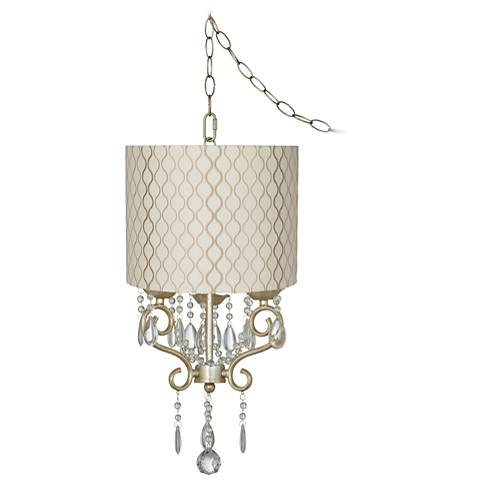 """Conti 14"""" Wide Mini Swag Chandelier with Hourglass Shade"""