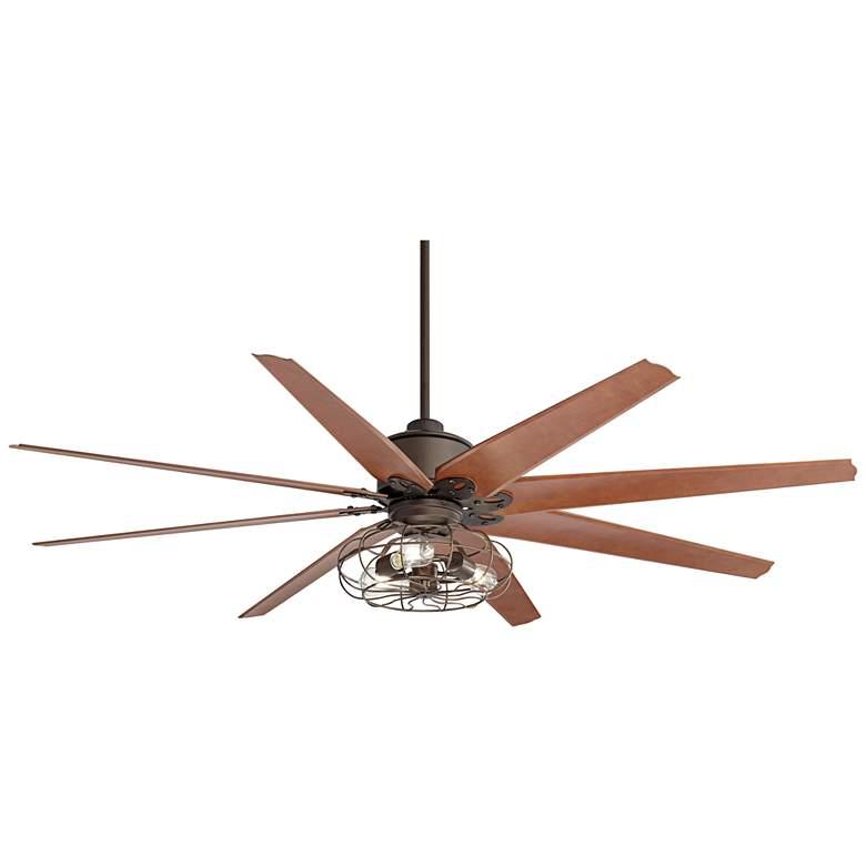 "72"" Predator English Bronze 3-Light LED Ceiling Fan"